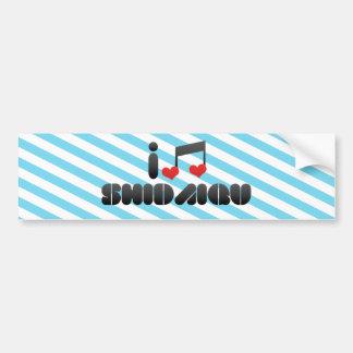 I Love Shidaiqu Car Bumper Sticker