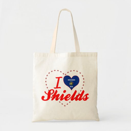 I Love Shields, Wisconsin Tote Bags