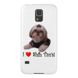 Case-Mate Barely There Samsung Galaxy S5 Case with Shih Tzu Phone Cases design