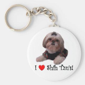 I Love Shih Tzu Key Chains