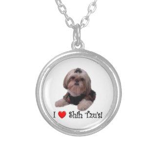 I Love Shih Tzu Custom Necklace