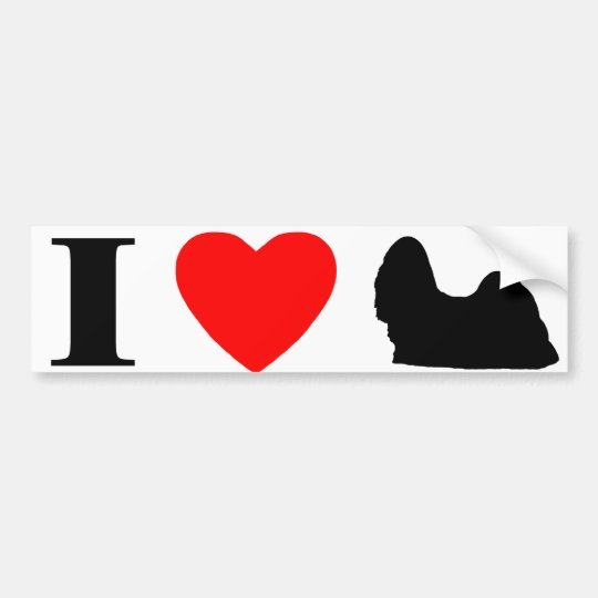 I Love Shih Tzus Bumper Sticker