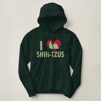 I Love Shih Tzus Dark Embroidered Hoodie