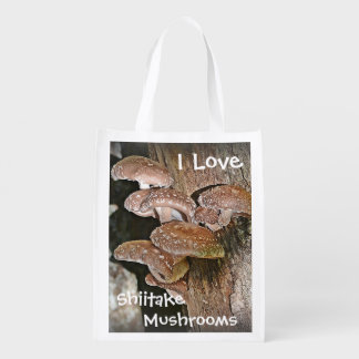 I Love Shiitake Mushrooms Grocery Bag