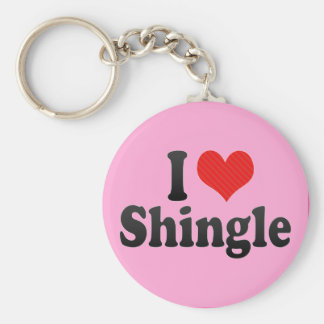 I Love Shingle Keychains