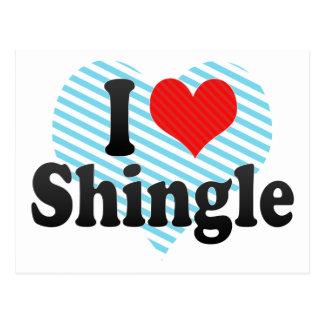 I Love Shingle Postcard