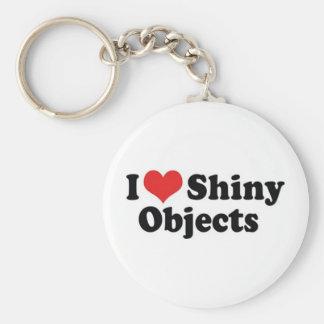 I Love Shiny Objects Keychain