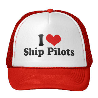 I Love Ship Pilots Mesh Hat