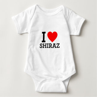 I Love Shiraz Baby Bodysuit