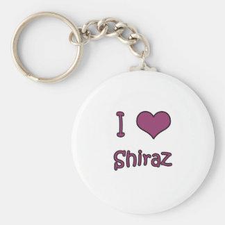 I Love Shiraz Keychain