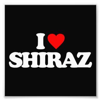 I LOVE SHIRAZ PHOTO PRINT