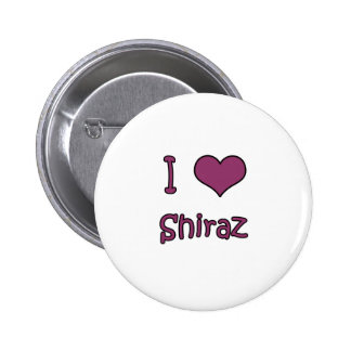 I Love Shiraz Pinback Buttons