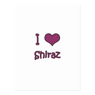I Love Shiraz Postcard