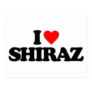 I LOVE SHIRAZ POSTCARD