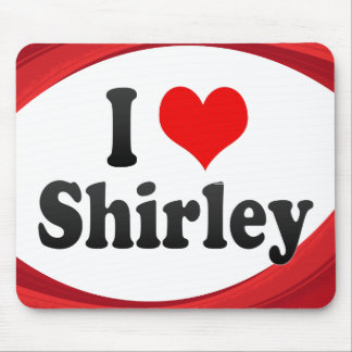 I Love Shirley, United States Mouse Pad