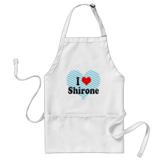 I Love Shirone, Japan Adult Apron