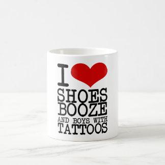 I Love Shoes, Booze and Tattoos Coffee Mug