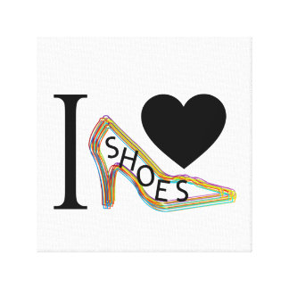 I love shoes canvas print