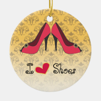 I Love Shoes Christmas Ornament