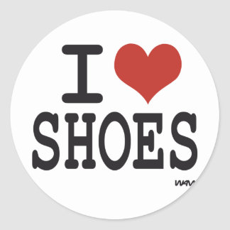 I love Shoes Classic Round Sticker