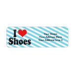 I Love Shoes Custom Return Address Labels