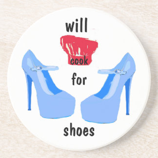 I Love Shoes, Hate  Cooking Drink Coaster