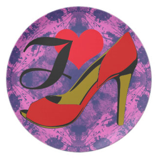 I love shoes/I loves shoes Dinner Plate