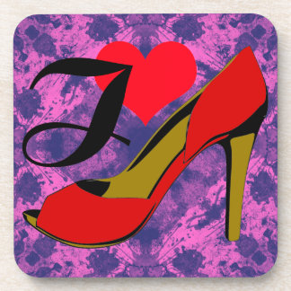 I love shoes/I loves shoes Drink Coaster