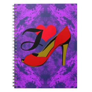 I love shoes/I loves shoes Spiral Note Book