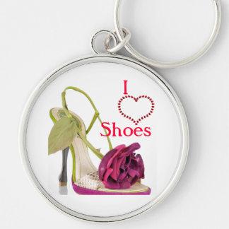 i love shoes keychain