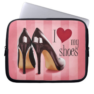 I love shoes computer sleeve