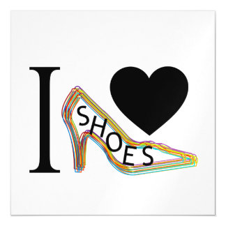 I love shoes magnetic card