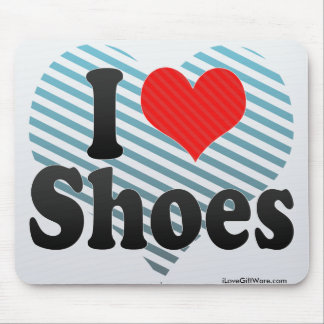 I Love Shoes Mouse Pad