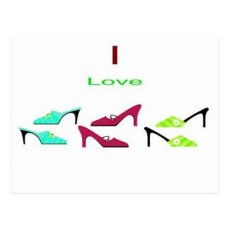I love Shoes Postcard