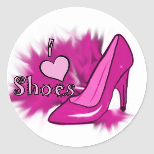 I love shoes sticker