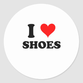 I Love Shoes Round Stickers