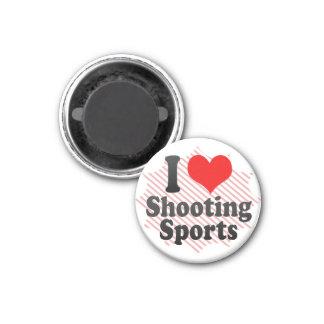 I love Shooting Sports Refrigerator Magnets
