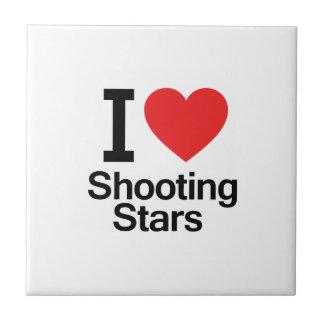 I Love Shooting Stars Ceramic Tiles