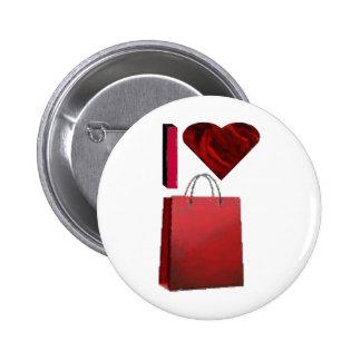 I Love Shopping Pin