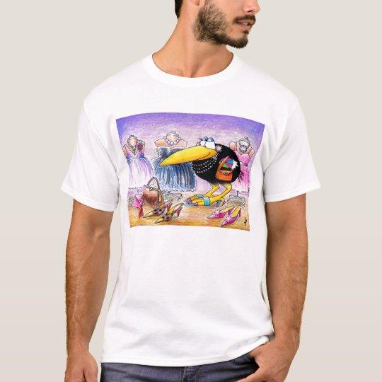 I love SHOPPING crow tee shirt