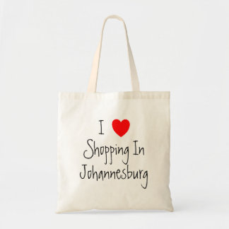I Love Shopping In Johannesburg Personalized Tote Bag