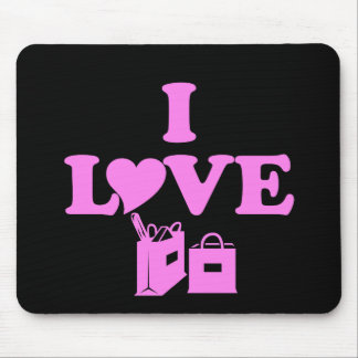 I Love Shopping Mouse Pad