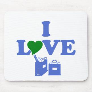 I Love Shopping Mousepads