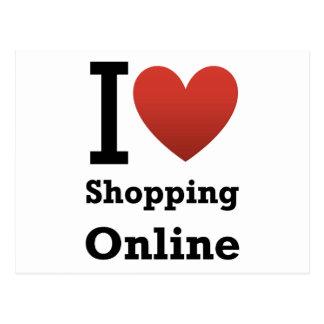 i love shopping online postcard