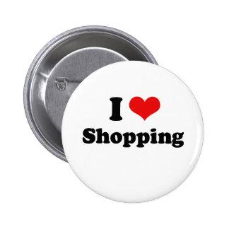 I Love Shopping Tshirt Pin