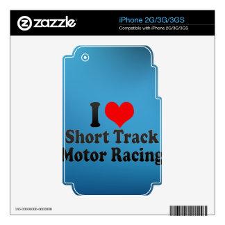 I love Short Track Motor Racing iPhone 3 Decal