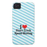 I love Short Track Speed Skating Case-Mate iPhone 4 Case