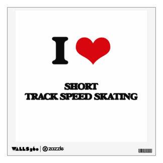I Love Short Track Speed Skating Wall Graphics