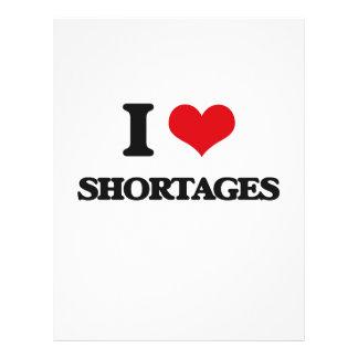 I Love Shortages Full Color Flyer