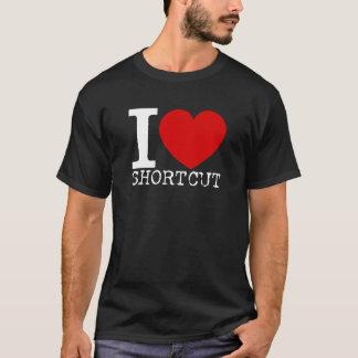 I Love Shortcut (White) T-Shirt